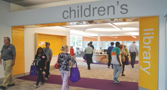 Hundreds attend Central Library reopening
