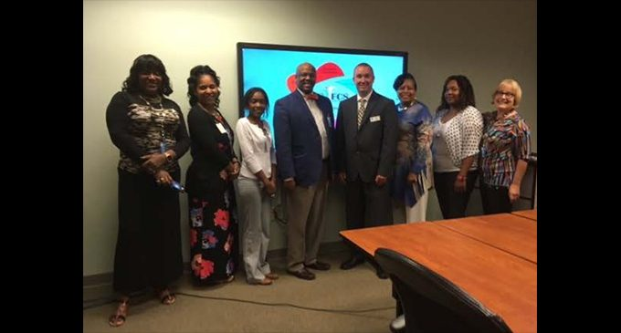 WS/FCS Title I Department meets with N.C. Principal of the year