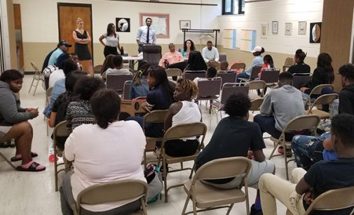 Judge Hartsfield and Wake Forest Law students visit rec center