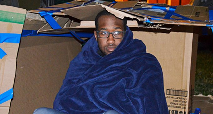 WSSU  students sleep out for homelessness awareness