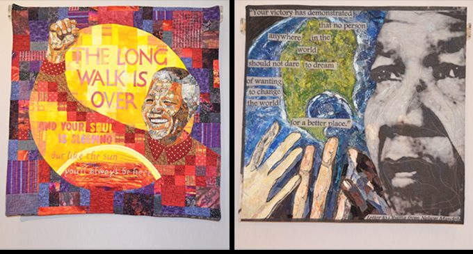 Quilts of Mandela now at Delta Arts Center