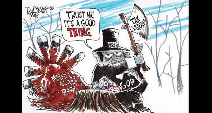 Political Cartoon: Tax reform