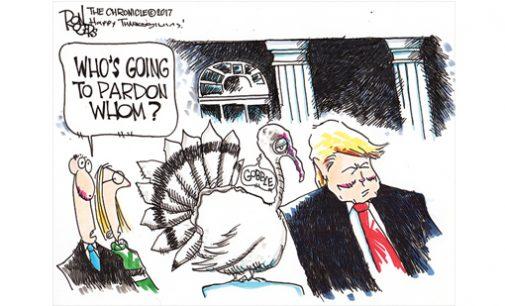 Editorial Cartoon: Who get the pardon?