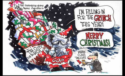Editorial Cartoon: Grinch Tax Cuts