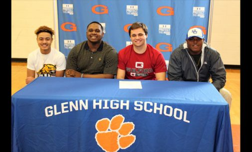 Glenn athletes sign letters of intent