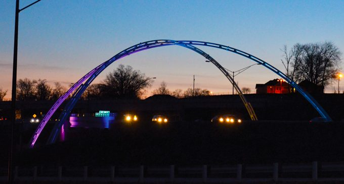 Lighting the Twin Arches