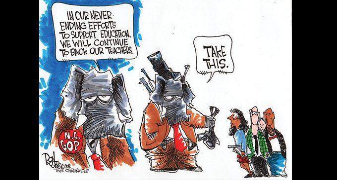 Editorial Cartoon: Supporting Teachers