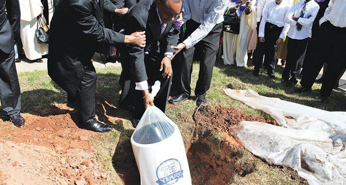 Local church buries time capsule