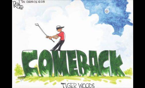 Editorial Cartoon: Tiger Woods