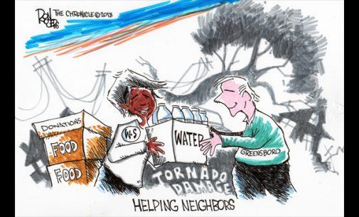 Editorial Cartoon: Helping Neighbors