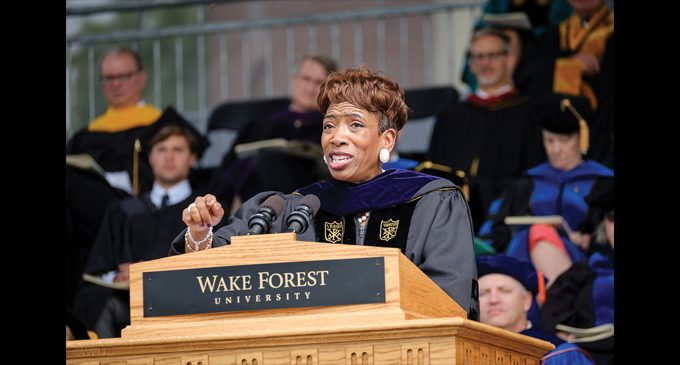Speaker tells grads to be courageous about diversity