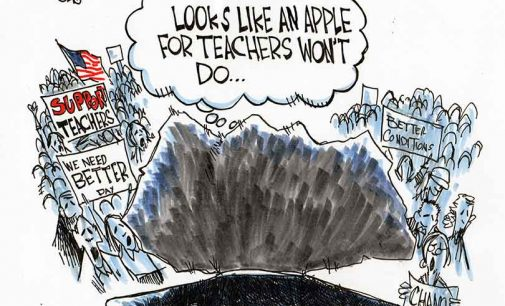 Editorial Cartoon: Teachers protest