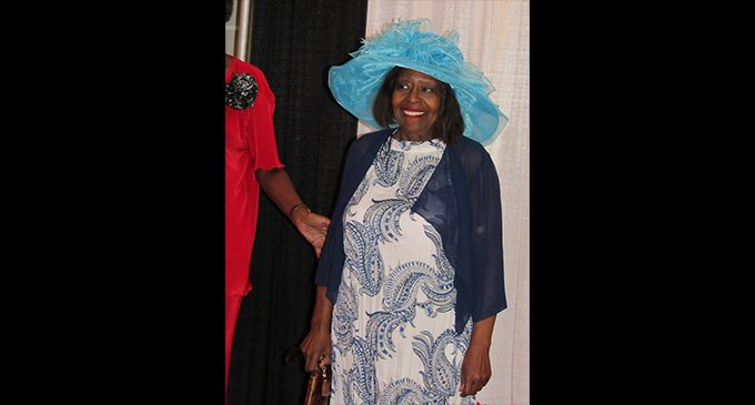 Confident seniors show their outfits  in fashion show