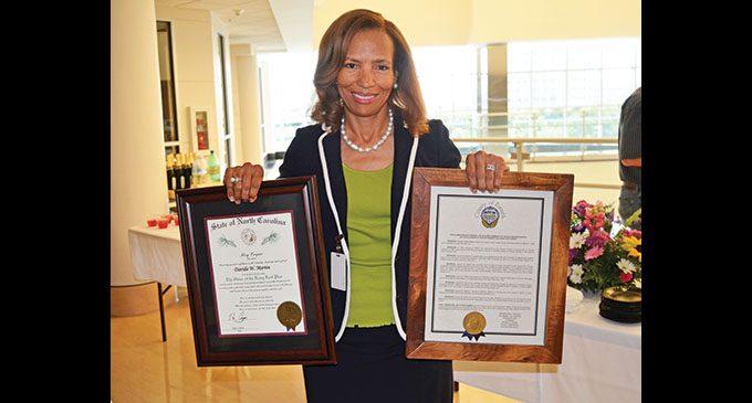 Retired County Attorney Davida Martin honored