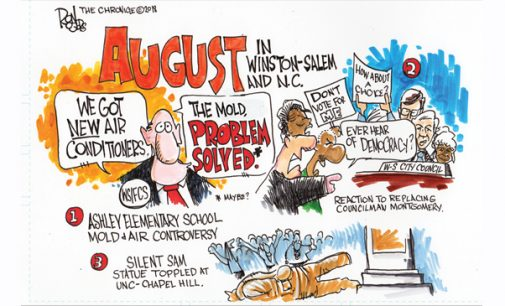 Editorial Cartoon: August in Winston-Salem and N.C.
