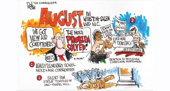 Editorial Cartoon: August in Winston-Salem and N.C.