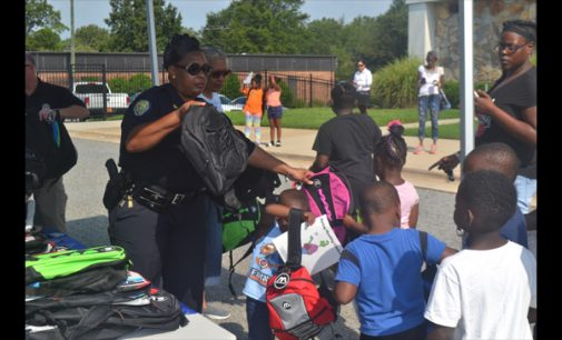 Local police help students get in gear