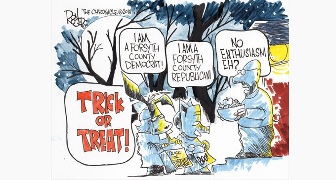Editorial Cartoon: Trick or Treat