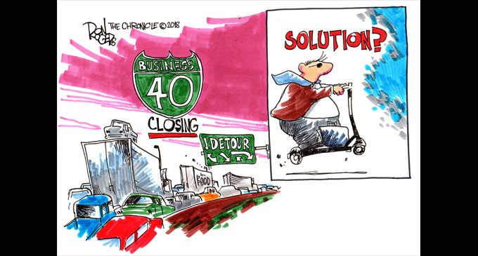 Editorial Cartoon: Business 40 Solution