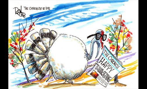 Editorial Cartoon: Happy Thanksgiving