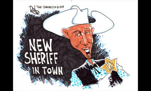 Editorial Cartoon: New Sheriff