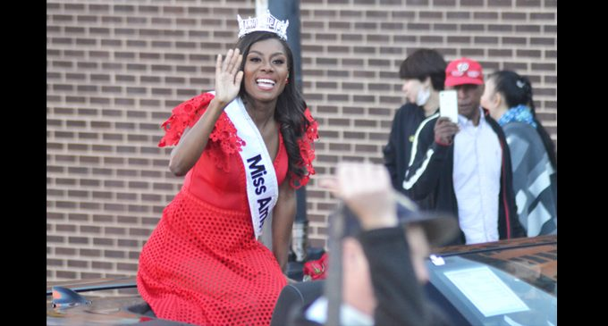 City honors Miss America
