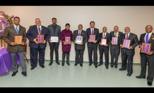 Omega Psi Phi chapter honors local citizens, awards scholarship
