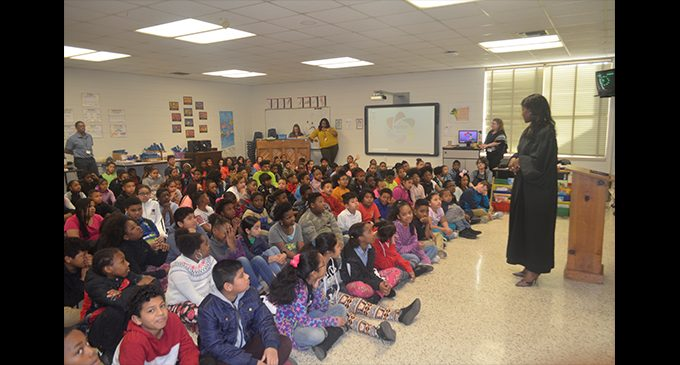 Judge Camille Banks-Prince visits students at Ashley Elementary