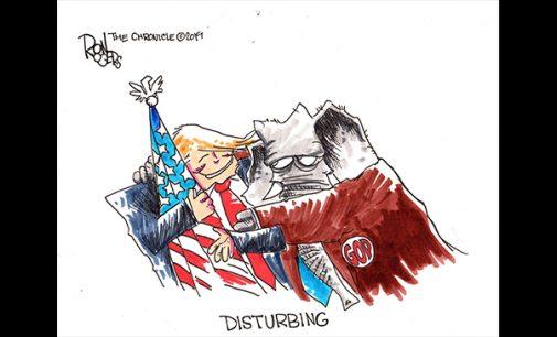 Editorial Cartoon: Disturbing