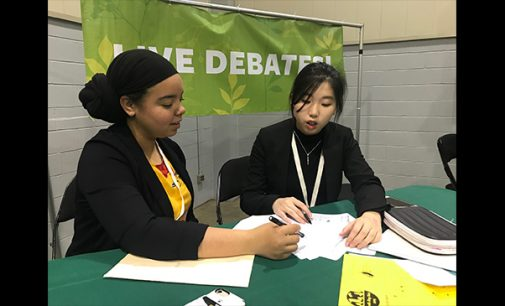 Forsyth Early College team wins debate against banning cars in central downtown