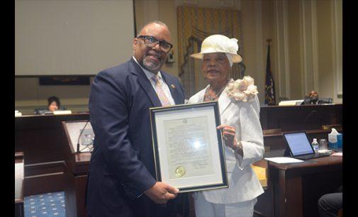 Sen. Lowe honors Mayor Pro Tempore Vivian Burke for service