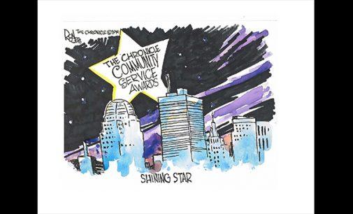 Editorial Cartoon: Community Service Awards