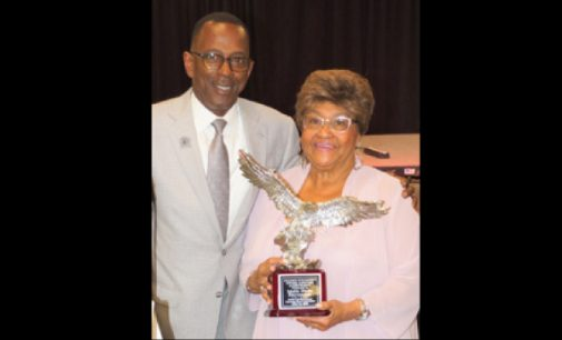 Mable Stevenson receives North Carolina Central University alumni Founder's Award