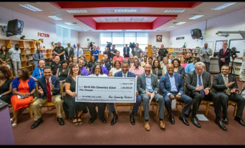 Local law enforcement donates $50,000 to North Hills Elementary