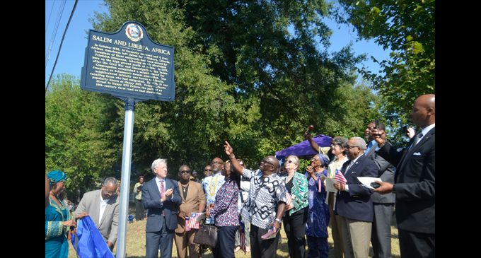 Historic market unveiled honoring city's connection with Liberia