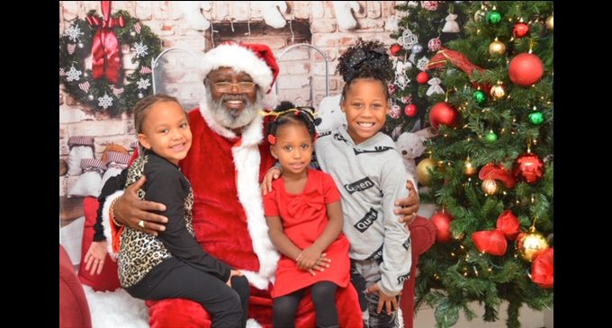 Black Santa comes to town