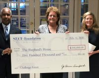 State Employees' Credit Union presents challenge grant for homeless shelter