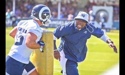 Woodbury takes on new challenge as coach with L.A. Rams