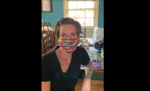 Local women work to unite local sewers to make medical masks