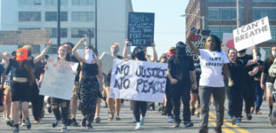 Protests stay peaceful in Winston-Salem