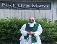Local church raises Black Lives Matter banner