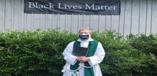 Local church raises Black Lives Matter banner