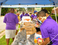 Psi Phi Chapter of Omega Psi Phi  Fraternity, Inc. to  distribute bags of food