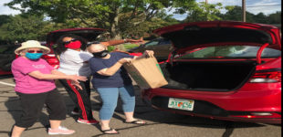 Drive-thru school supplies event