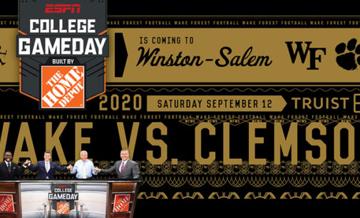Wake Forest University will host ESPN College GameDay for the first time in the show's history