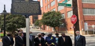 Local church installs historical marker
