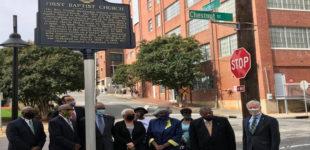 Local church installs historical marker