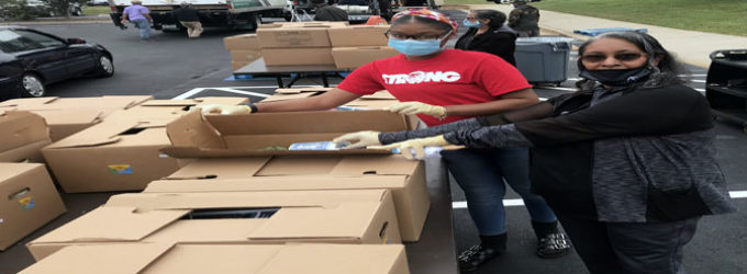 Church assists thousands with food giveaway