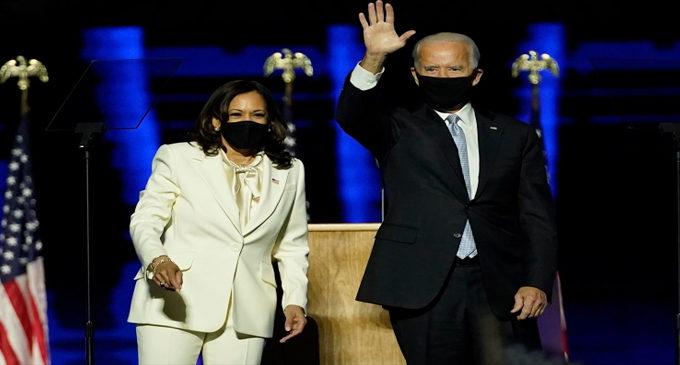 Biden named president, Harris makes history