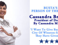 Busta's Person of the Week: 'I want to give back to the City of Winston-Salem, as they have given to me.'